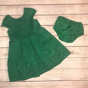 Janie and Jack Stunning Green Dress 18-24 Months